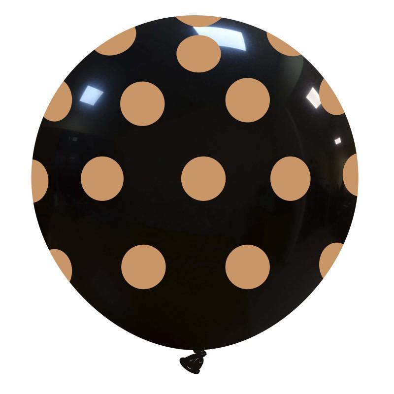 Big Polka Dots Balloons - Gold (Cattex)