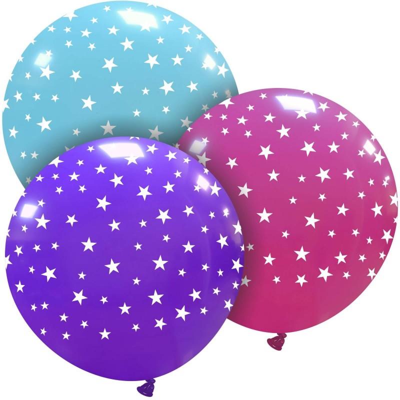 Giant Balloons - Little White Stars - Cattex