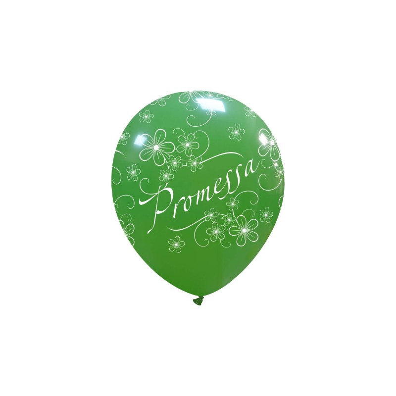 Cattex 5 Inch Green Balloons With The Word Promise