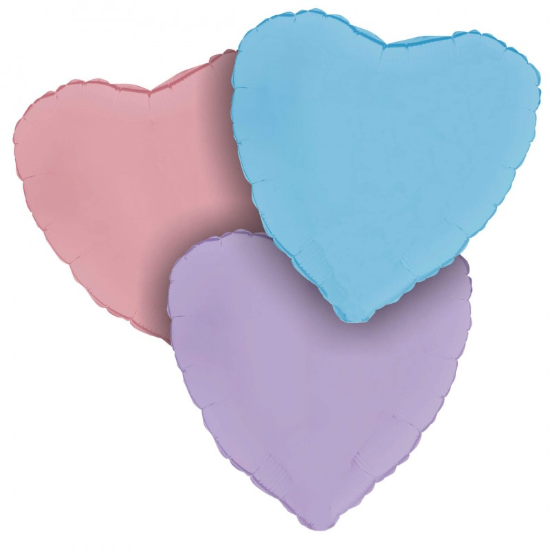 Cattex Matte Colored 18 Inch Heart Shaped Foil Balloon
