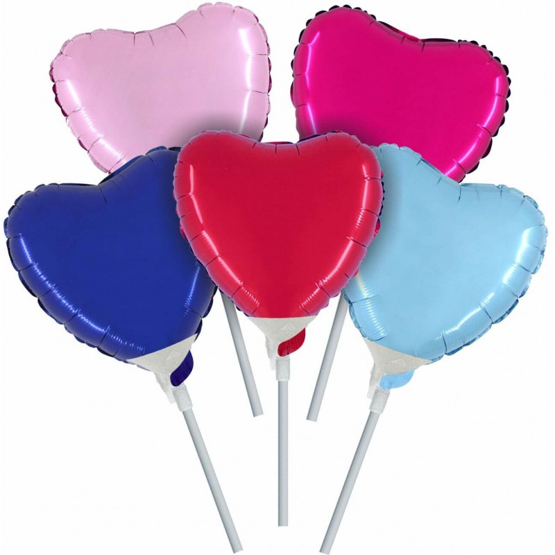 Cattex - 4 Inch Heart Shaped Foil Balloons