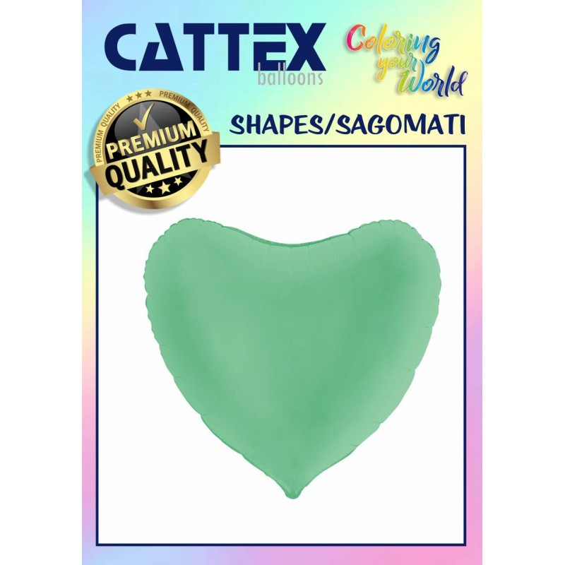 Cattex Matte Colored 36 Inch Heart Shaped Foil Balloon