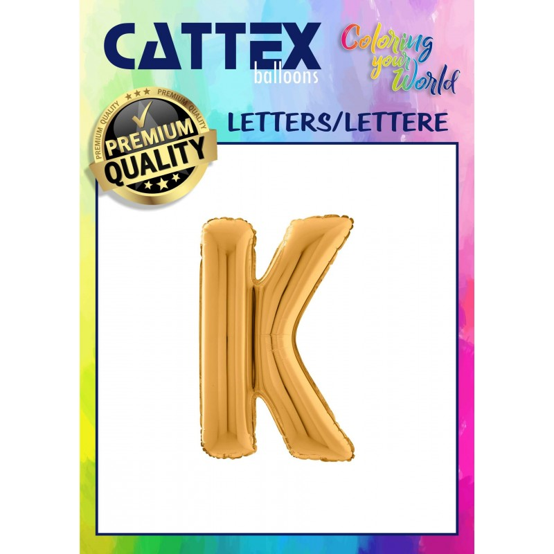 Cattex 26 Inch Letter K Shaped Foil Balloons