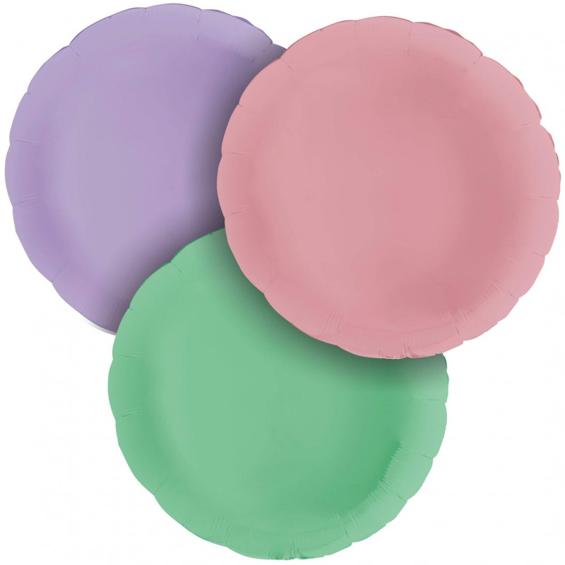 Cattex Matte Colored 36 Inch Round Shaped Foil Balloon