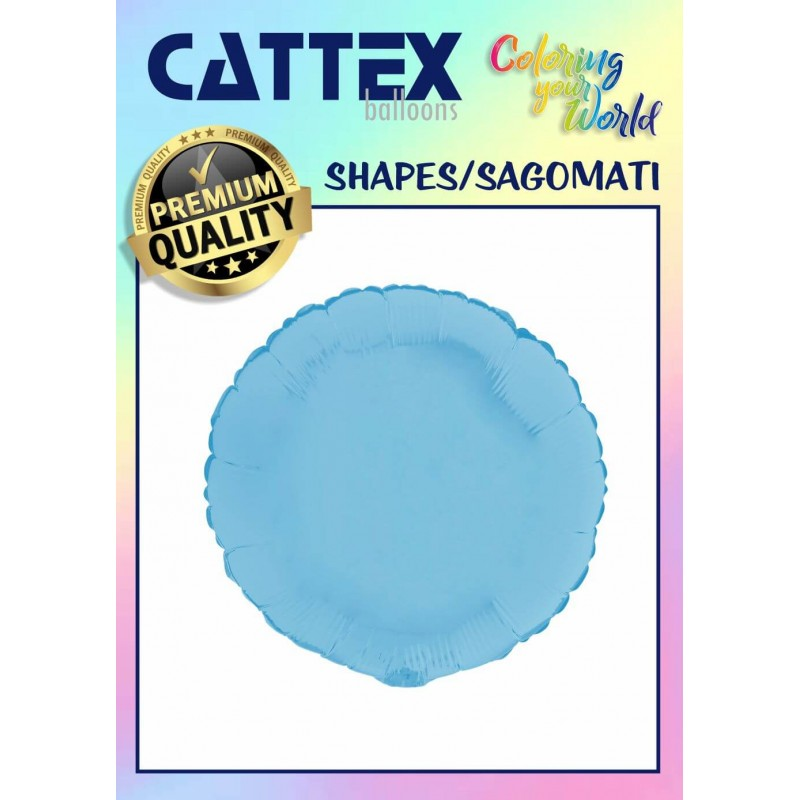 Cattex Matte Colored 18 Inch Round Shaped Foil Balloon