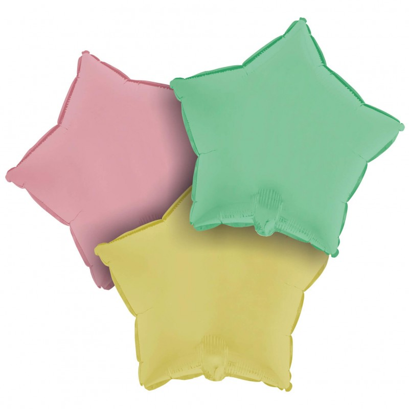 Cattex Matte Colored 18 Inch Star Shaped Foil Balloon