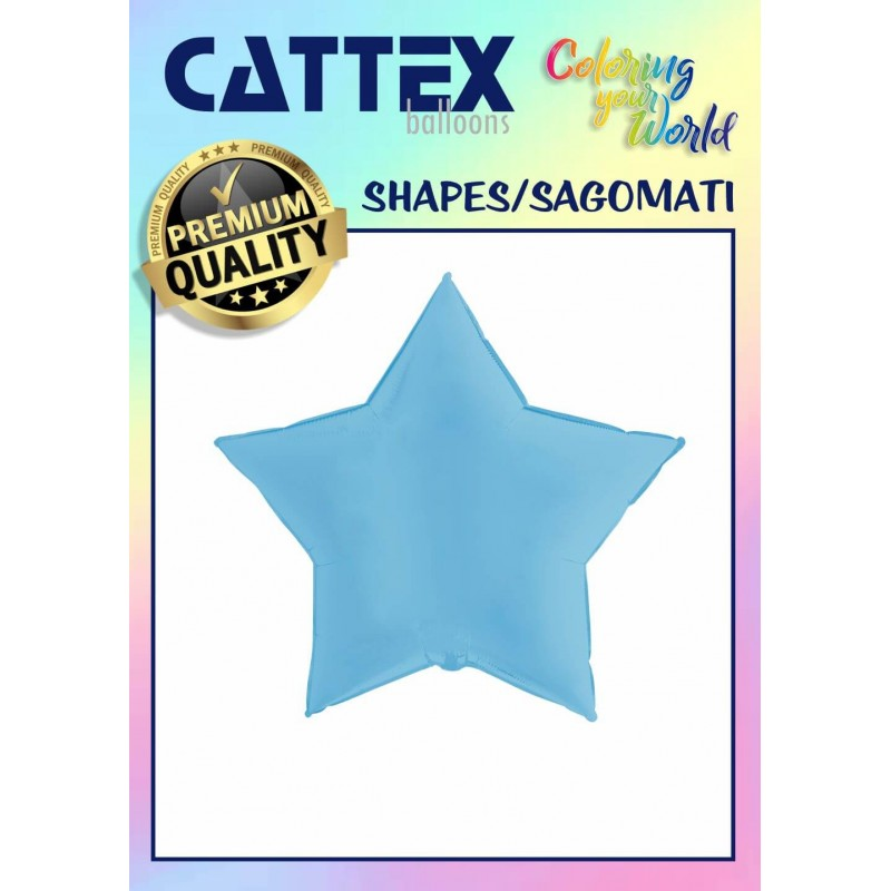 Cattex Matte Colored 36 Inch Star Shaped Foil Balloon